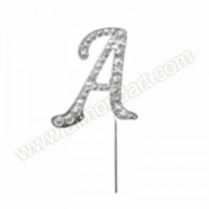 Letter A Diamante Pick