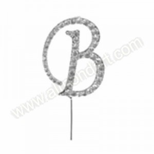 Letter B Diamante Pick