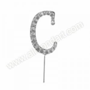 Letter C Diamante Pick