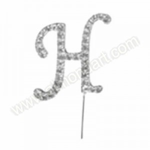 Letter H Diamante Pick