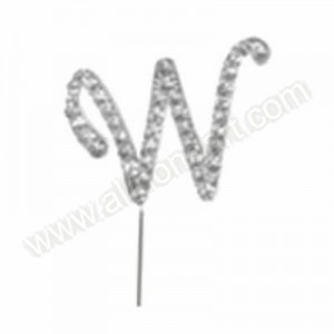Letter W Diamante Pick