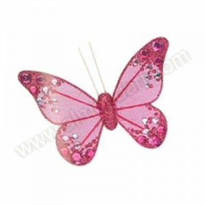 Fuchsia Organza Butterfly with clip