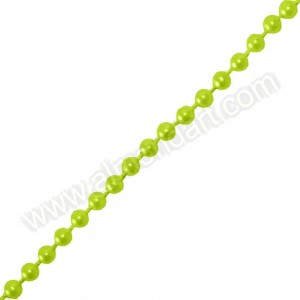 Lime Pearls On A String - 5mm x 1m