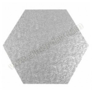 "12"" Hexagonal Cake Drum - (flat to flat)"