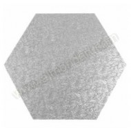 "9"" Hexagonal Cake Drum - (flat to flat)"