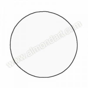 """9"""" Round White Polycoated Card"""