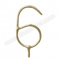 Gold Number '6' Sparkling Candle