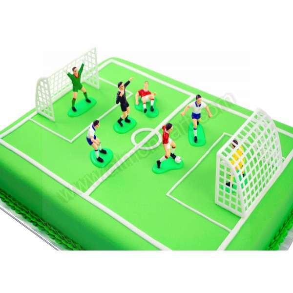 Cake Decorations Football Nets : Football Decoration Set - 9 pieces - Almond Art