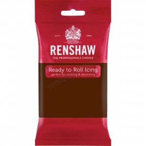Renshaw Dark Brown Chocolate Flavoured Ready To Roll Icing - 250g