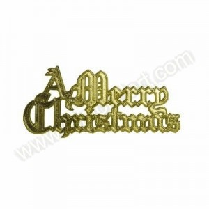 "Gold ""A Merry Christmas"" Motto"