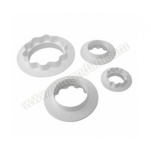 Round & Wavy Edged Double Sided Cutters - Set Of 4