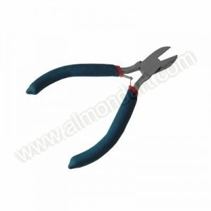 Mini Side Cutting Pliers - Spring Loaded Soft Grip