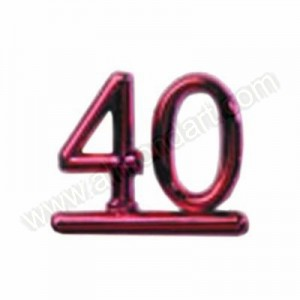 40 - Red Numeral