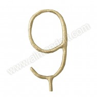 Gold Number '9' Sparkling Candle
