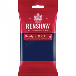 Renshaw Navy Blue Ready To Roll Icing - 250g