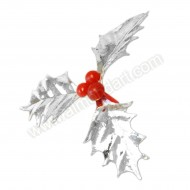 Silver Holly Pick - 60mm