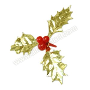 Gold Holly Pick - 60mm