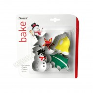 Christmas Cookie Cutters - Set Of 4 (Snowman)