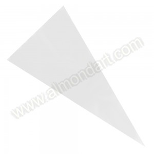 12 Plain Cone Shape Confectionery Bags & Ties - 180mm x 370mm