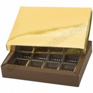 12 Cavity Brown/Gold Sweet - Chocolate Box