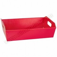 Red Silk Hamper Basket