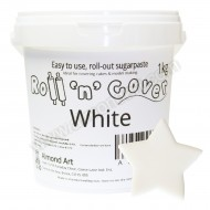 White Roll 'n' Cover Sugarpaste - 500g