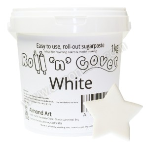 White Roll 'n' Cover Sugarpaste - 1kg