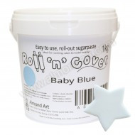 Baby Blue Roll 'n' Cover Sugarpaste - 1kg