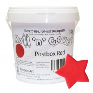 Postbox Red Roll 'n' Cover Sugarpaste - 1kg