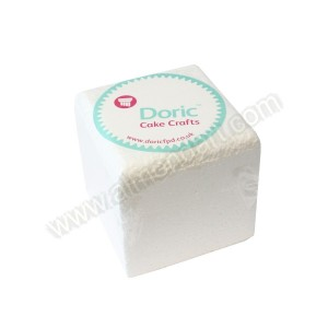 "4"" Square 4"" Deep Chamfered Edge Cake Dummy"