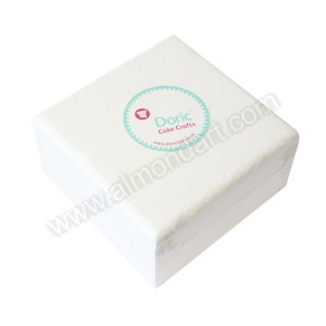 "8"" Square 4"" Deep Chamfered Edge Cake Dummy"