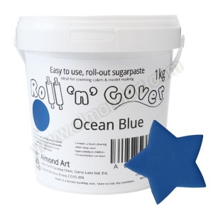 Ocean Blue Roll 'n' Cover Sugarpaste - 1kg