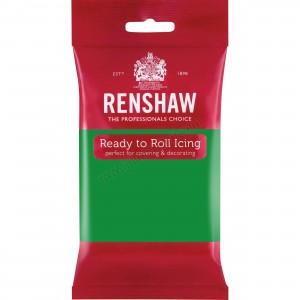 Renshaw Emerald Green Ready To Roll Icing - 250g