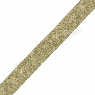 Lurex Ribbon Metallic Gold 25mm - 1 Metre