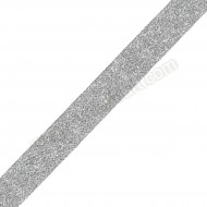Lurex Ribbon Metallic Silver 25mm - 1 Metre