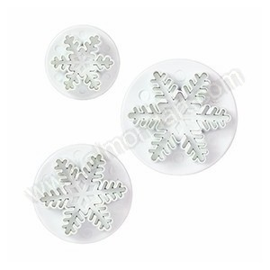 Snowflake Plunger Cutters - 3pc