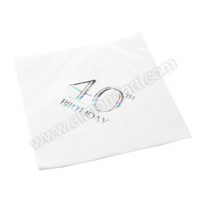 40th Birthday Napkin - 3 ply - 15pk