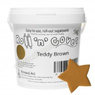 Teddy Brown Roll 'n' Cover Sugarpaste - 1kg