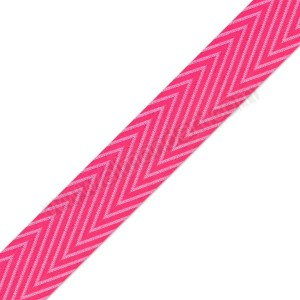 Fuchsia Chevron Ribbon 25mm x 1m