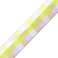 Lilac & Green Wired Sheer Square Ribbon 40mm x 1m