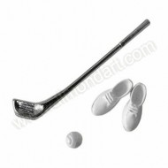 Golf Club, Ball & Shoes Decoration Set