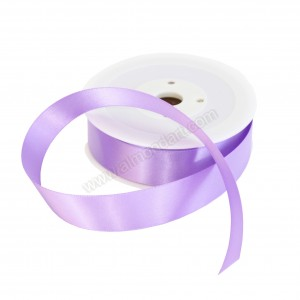 25mm Purple Double Sided Satin Ribbon - 25m Roll
