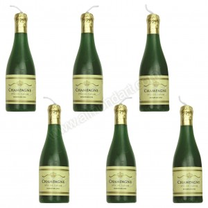 Champagne Bottle Candles - 6pk