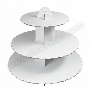 3 Tier Plain White Cupcake Stand