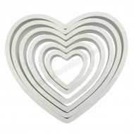 PME Heart Cutters - Set of 6