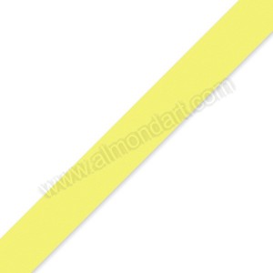 15mm Pale Yellow Double Sided Satin Ribbon - 1m