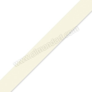 15mm Eggshell Double Sided Satin Ribbon - 1m