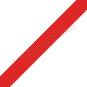 15mm Red Double Sided Satin Ribbon - 1m