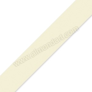 25mm Ivory Double Sided Satin Ribbon - 1m