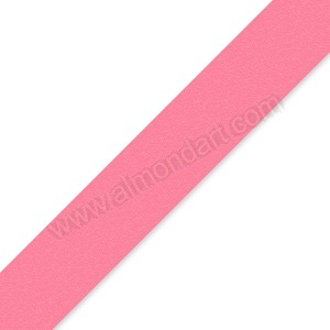 25mm Pink Double Sided Satin Ribbon - 1m